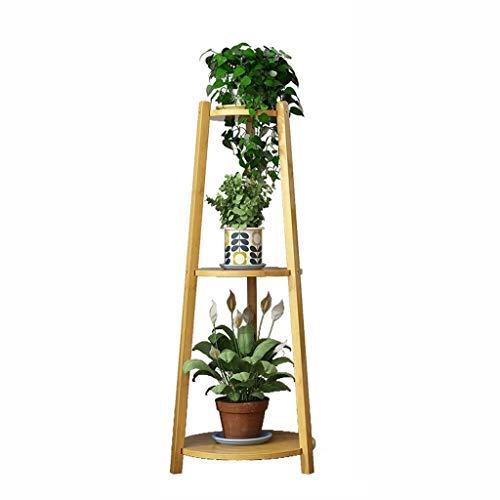 HZTWS Flower Stand mehrschichtige Massivholz Innenraum Wohnzimmer Balkon Blumentopf Rack Pflanze Stand Ornament (Size : L) -