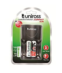 Uniross 2 nos rechargable battery with compact slim charger, world's 1st Hybrio technology, Capacity 2100mAh