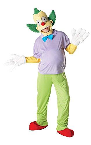 Rubie 's Offizielle Classic Krusty der Clown Simpsons Deluxe, Erwachsene Kostüm–Standard bis 106,7cm Brust