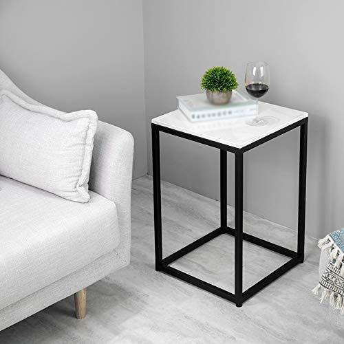Square Marmor (Jia He Beistelltische Moderne Wohnzimmer Square Couchtisch Nachttisch Marmor Arbeitsplatten Zwei Farben Optionale Größe: 40x40x58cm (Farbe : SCHWARZ))