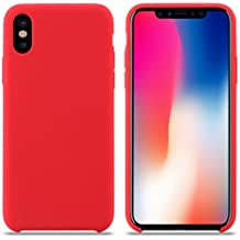coque iphone x apple cuir rouge