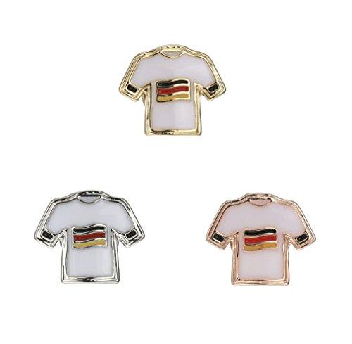 RicVanMur WM2018 Charm - Deutschland Trikot/Fußball - passend für Charmband/Mesh Armband Fanartikel (Silber) (Mesh-fußball-trikot)