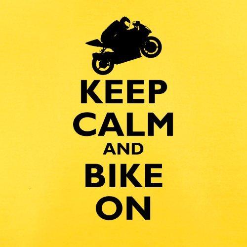 Keep Calm and Bike On - Herren T-Shirt - 13 Farben Gelb