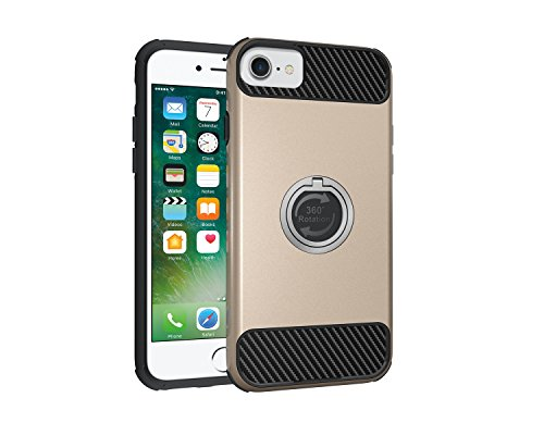 Custodia iPhone 7, iPhone 7 Cover Silicone, SainCat Custodia in Morbida TPU e Hard PC Protettiva Cover per iPhone 7, 2 in 1 Custodia Cover Shock-Absorption Antiurto 3D Design Silicone Case Ultra Slim  Oro
