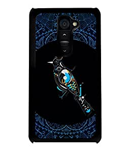 PRINTVISA Bird with pattern Premium Metallic Insert Back Case Cover for LG G2 - D5830
