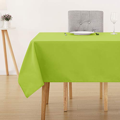Deconovo tovaglia cerata rettangolare impermeabile in tessuto oxford per cucina 130x130cm verde
