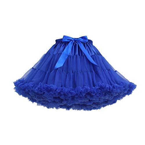 JiaMeng Damenmode einfarbig Tanzparty Tanz Ballett Tutu Röcke Miniröcke