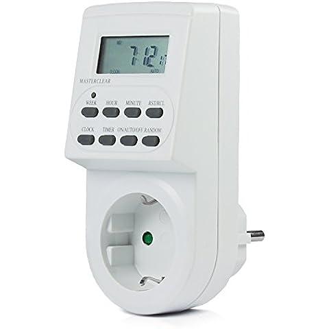 Vivanco DT1 - Temporizador (230-240 V, 50 Hz), batería interna recargable, Color Blanco