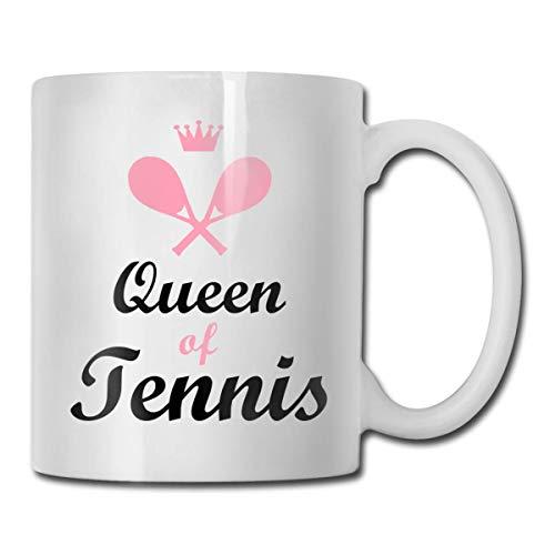 funny cat Tennis Queen 11oz Kaffeetassen Lustige Tasse Tee Tasse Geburtstag Keramik
