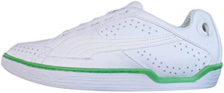 Puma Kite PL Mens Leder Schuhe Sneaker / Schuh   weiAtildeYuml