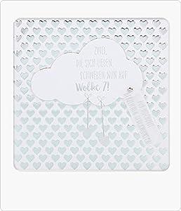 Depesche 8211.053Tarjeta de felicitación Glamour con Ornamento y Purpurina, cumpleaños