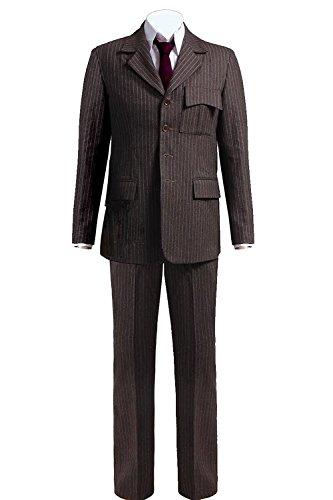 CosDaddy®Berühmt Film-Charakter Braun gestreift Anzug Cosplay Kostüm Wolle Version (Film Kostüme Berühmte)
