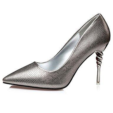 Moda Donna Sandali Sexy Donna Sandali tacchi estate pu Office & Carriera / Casual Stiletto Heel altri nero / argento / Champagne altri champagne
