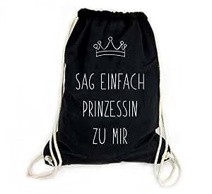 f8756ab35e38d Sophies Kartenwelt Turnbeutel mit Spruch Prinzessin - 100% Baumwolle ...