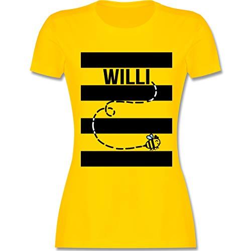 Karneval & Fasching - Bienen Kostüm Willi - M - Gelb - L191 - Damen T-Shirt ()