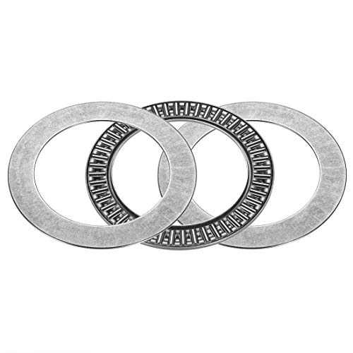 ZCHXD AXK6085+2AS Needle Roller Thrust Bearings with 2 Washers, 60mm Inner Diameter, 85mm OD, 5mm of Thickness, GCr15 Hardness -