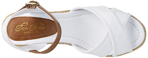 Tom Tailor 2799006, Sandales  Bout ouvert femme Weiß (white)
