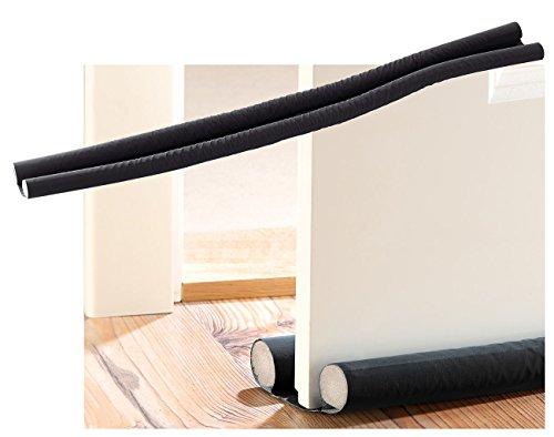 infactory Zugluftstopper: Zugluft-Stopper für Türen bis 60 mm Dicke, schwarz (Luftzug Stopper Tür)