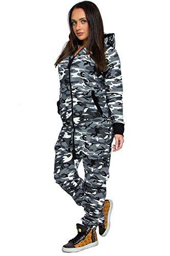 Herren Overall Jumpsuit Jogging Cargo-Style Onesie Sportanzug Camouflage  3006 69e24e150d
