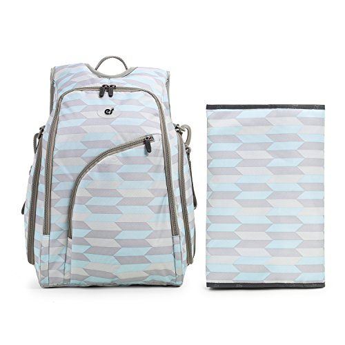 ecosusi-baby-nappy-mummy-changing-bags-diaper-backpack-with-anti-theft-back-pocket-2pcs-set-light-bl