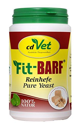 cdVet Naturprodukte Fit-BARF Reinhefe 200 g - Hund&Katze - Vitamin-B-Quelle - wertvolle Ergänzung zur täglichen Ernährung - Unterstützung der Darmflora - Vitamine - Rohfütterung - BARFEN -