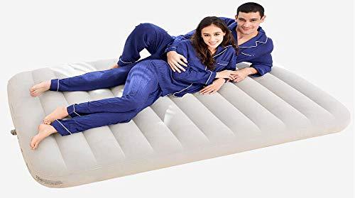 Home Luftmatratze Mittagspause Luftmatratze Tragbare Outdoor-Campingbett Dicke Beflockung PVC-Matratze bequem und erfrischend (Elektrische Luftpumpe)