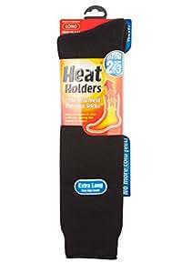 Mens Extra Long Thermal Heat Holder Socks Black shoe size 6-11 (39-45 eur)