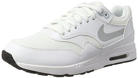 Nike Wmns Air Max 1 Ultra 2.0, Sneakers Basses Femme, Blanc Cassé (White/Mtlc Platinum/Black/White), 36