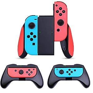 HEYSTOP Grip Kompatibel mit Nintendo Switch Joy-Con, 3 Stück Komfort Gamepad Controller Schutzhülle Griff Kits…