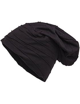 Shenky - Gorro de punto caído y grueso - Envejecido - Negro