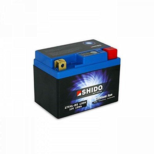 Shido LITHIUM-IONEN Batterie YTX4L-BS 12 Volt, SHIDO Motorrad Batterie   LiFePO4   LI-YTX4L-BS passend für KTM EXC-E 300 2T, Bj. 2008 [Preis ist inkl. Batteriepfand]