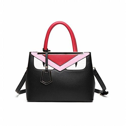 Hit die Kleine Monster-Paket Große Einzelne Schulter Messenger Bag Handtasche Schwarz