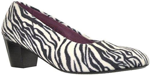 JJ Footwear, Stivali donna Nero (Schwarz/Weiss Zebra)