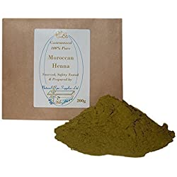 Natural Spa Supplies, polvere di henné marocchino, 100% puro e naturale, 200 g