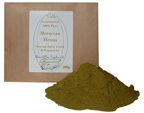 200g Moroccan Henna Powder Hair Dye, 100% Pure and Natural. Additive Free. Covers Grey Hair