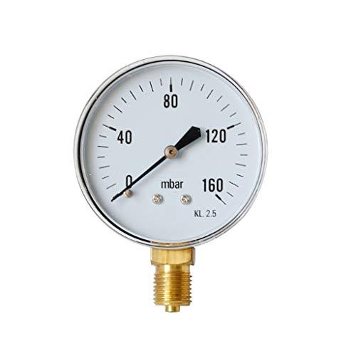 TianranRT♕ Wasserdruckmesser,Hochdruckmesser,Öldruckmesser,Wasserdruckmesser,Weiß -