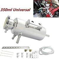 Universal 350 ml de rebosadero de coche Catch Tank Radiador refrigerante depósito de aluminio Set Vehículo