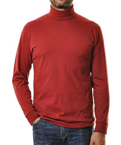 RAGMAN Rollkragen Pullover Baumwoll-Jersey 52, Weinrot-061 -