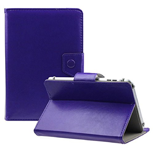 Ularma Universel luxe cristal PU cuir Stand housse Pour 9 pouces tablette PC Android (Purple)