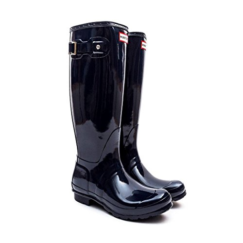Hunters - Original Tall Gloss, Stivale, unisex Blu