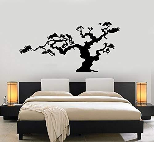 Oneill-baum (Japanische Bonsai Baum Vinyl Wandaufkleber Natur Dekor Japan Insel Wandaufkleber Aufkleber selbstklebende DIY Wasserdichte Wandbild40 cm x 79 cm)