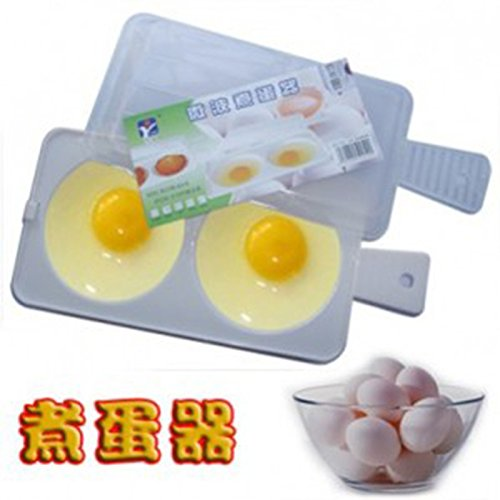 Idea High Mikrowellen-Omelette mit Deckel, gesundheitlich unbedenklich, aus Polypropylen, lebensmittelecht, Weiß