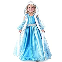 Inception Pro Infinite Talla 140 - 7 - 8 Años - Traje - Disfraz - Carnaval - Halloween - Elsa - Niña - Capucha - Frozen