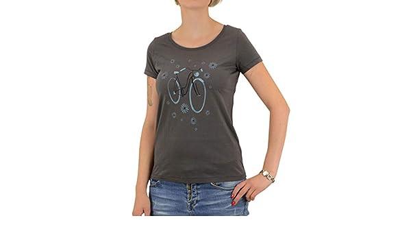 Greenbomb Frauen Fahrrad T-Shirt Bike Pinguin grau Bio Baumwolle Tshirt Organic