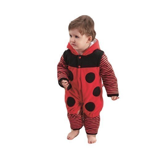 Marienkäfer mini Beast Animal Velours Einteiler Fancy Kleid Kostüm Outfit 9Monate-3Jahre (Baby Mini Me Kostüme)