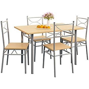 BucheEsstisch 4 Für Deuba Tisch Und TlgSitzgruppe Stühlen Stuhl Set 5 Esszimmer Küche Balkon Essgruppe Paul Mit dCshtQr