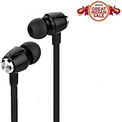 AUDIO SALE!MOBILE ACCESSORIES DAY!RAMZAN SALE! FATHERS DAY OFFER!TODAYS DEALS IN AMAZON!SUMMER SALE !!EAR PHONE Robost Stereo Earphone Hands-Free Metal Dot Headset with Mic and Volume Controller 3.5Mm Jack Compatible for OnePlus Lenovo Samsung Apple IPhone Xiaomi Motorola Asus Honor Intex Oppo Cool pad Gionee HTC Vivo Micromax data wind LeEco Lava LYF Spice Blackberry Infocus Android Mobiles/ Tablets, Laptops & Gaming Consoles EZ181- Black
