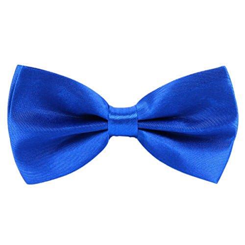 New Uni Satin 2 Layer Men's Vorgebundene Fliege Schleife verstellbar, Royal Blau Layer-satin