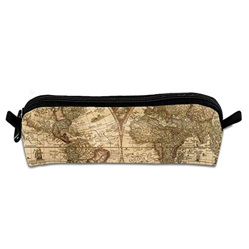 Old World Map Globe Pen Holder Stationery Pencil Pouch Cosmetic Bags/Pencil Bag Pen Case Cosmetic Makeup Bag Pen Pencil Stationery Pouch Bag Case (Globe World Old)