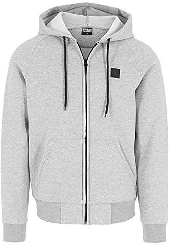 Urban Classics Kapuzenpulli Thermo Zip Hoody - Sweat-Shirt Homme, Gris (Grau) - Small (Taille fabricant: Small)